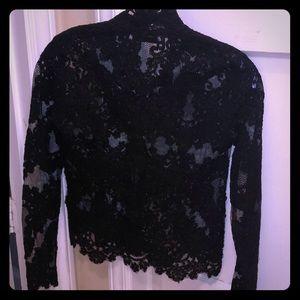 Tops - Babaton Aritzia xxs lace black blouse NWOT